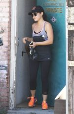LUCY HALE Leaves a Gym in Beverly Hills