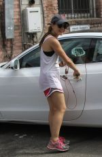 LUCY HALE Leaves a Gym in West Hollywood