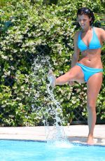 LUCY MECKLENBURGH in Bikini at a Pool in Rome