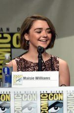 MAISIE WILLIAMS at Game of Thrones Panel at Comic-con in San Diego