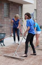 MANDY MOORE at Purina Cat Chow Building Better Lives Program in Denver
