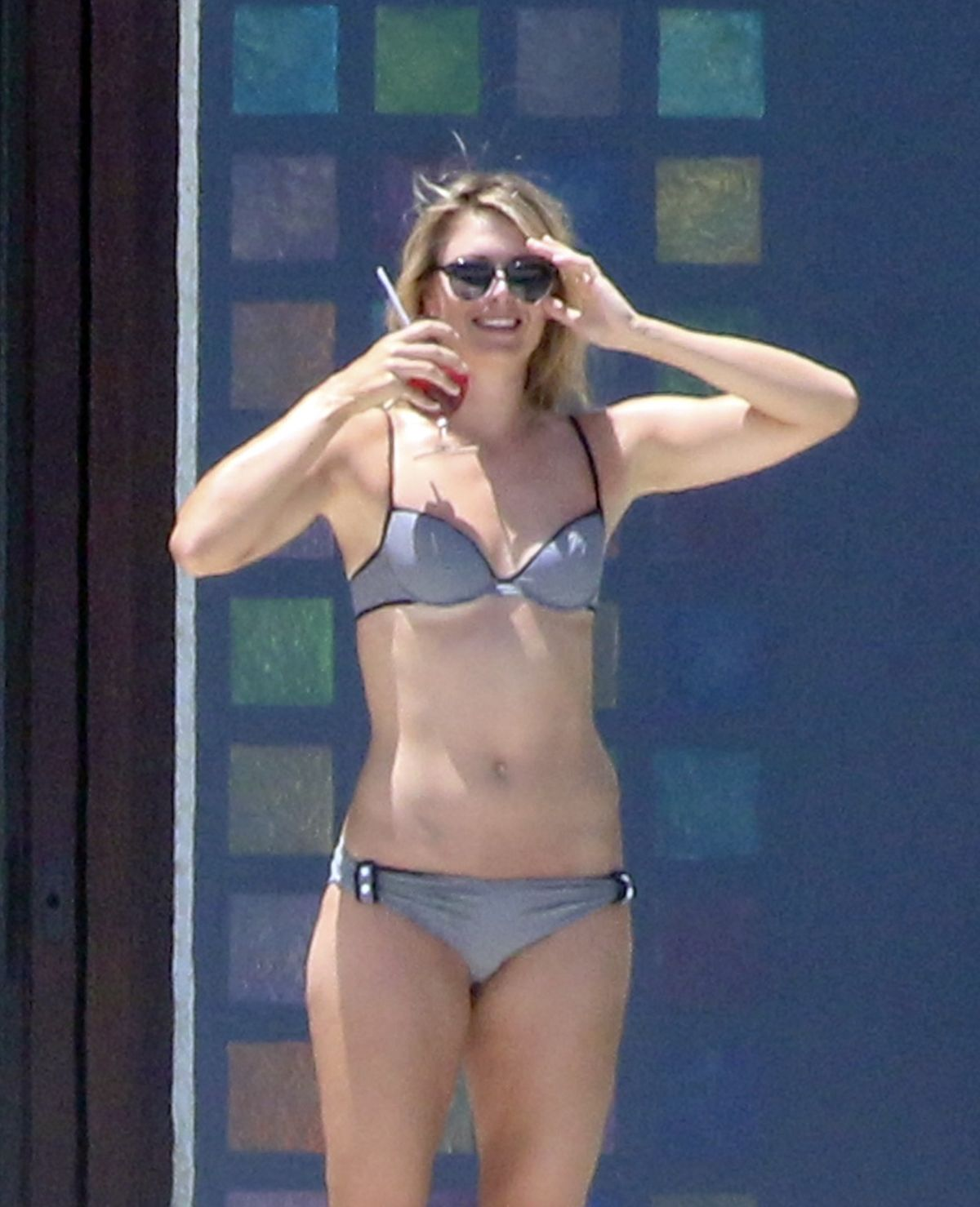 Maria Sharapova In Bikini At A Pool In Cabo San Lucas
