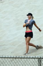 MARIA SHARAPOVA Working Out in California