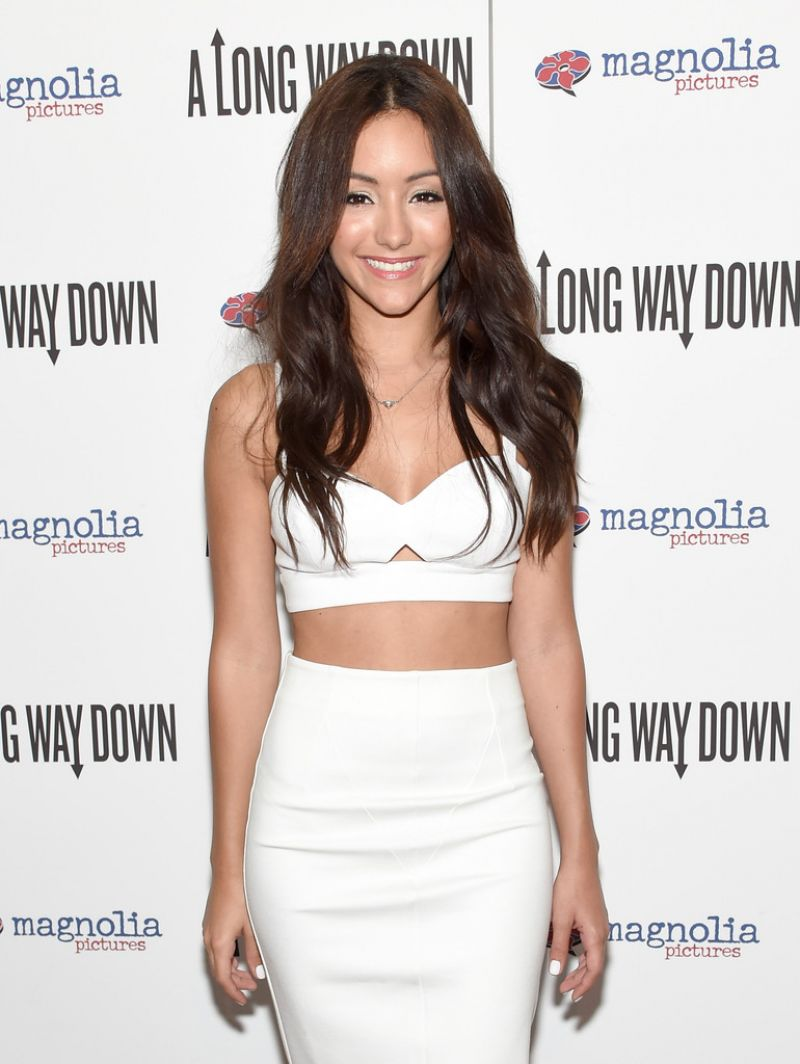 MELANIE IGLESIAS at A Long Way Down Premiere in New York