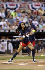 MELANIE IGLESIAS at MLB All-star Legends and Celebrity Softball Game
