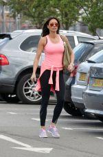 MELANIE SYKES Leaves a Gym in London