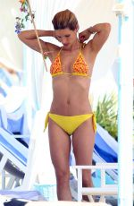 MICHELLE HUNZIKER in Bikini at a Beach in Forte Dei Marmi
