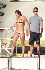 MICHELLE RODRIGUEZ in Bikini at a Yacht in Ibiza