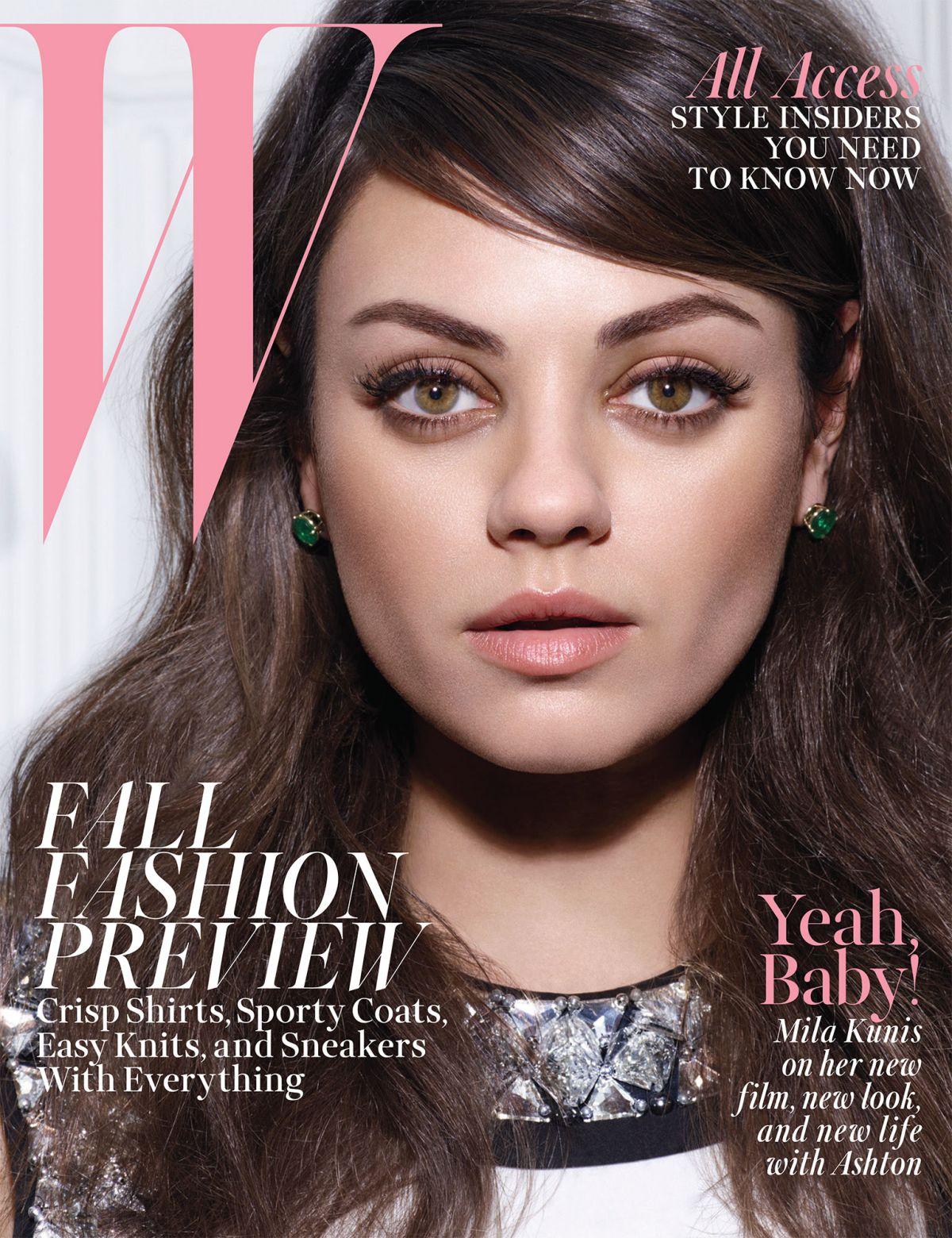 MILA KUNIS in W Magazine, August 2014 Issue