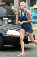 MILEY CYRUS at a Gas Station in West Hollywood