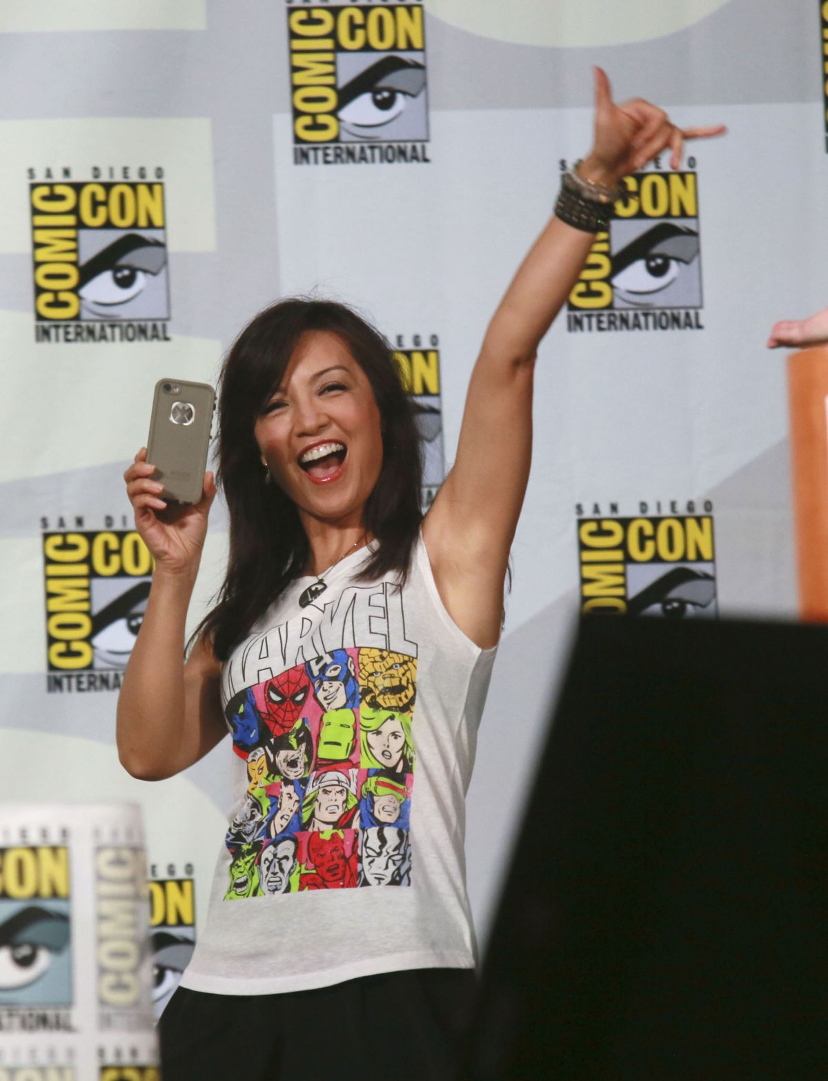 MING-NA WEN at Agents of S.H.I.E.L.D. Panel at Comic-con in San Diego
