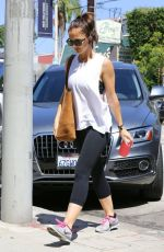MINKA KELLY Heading to a Gym in Los Angeles