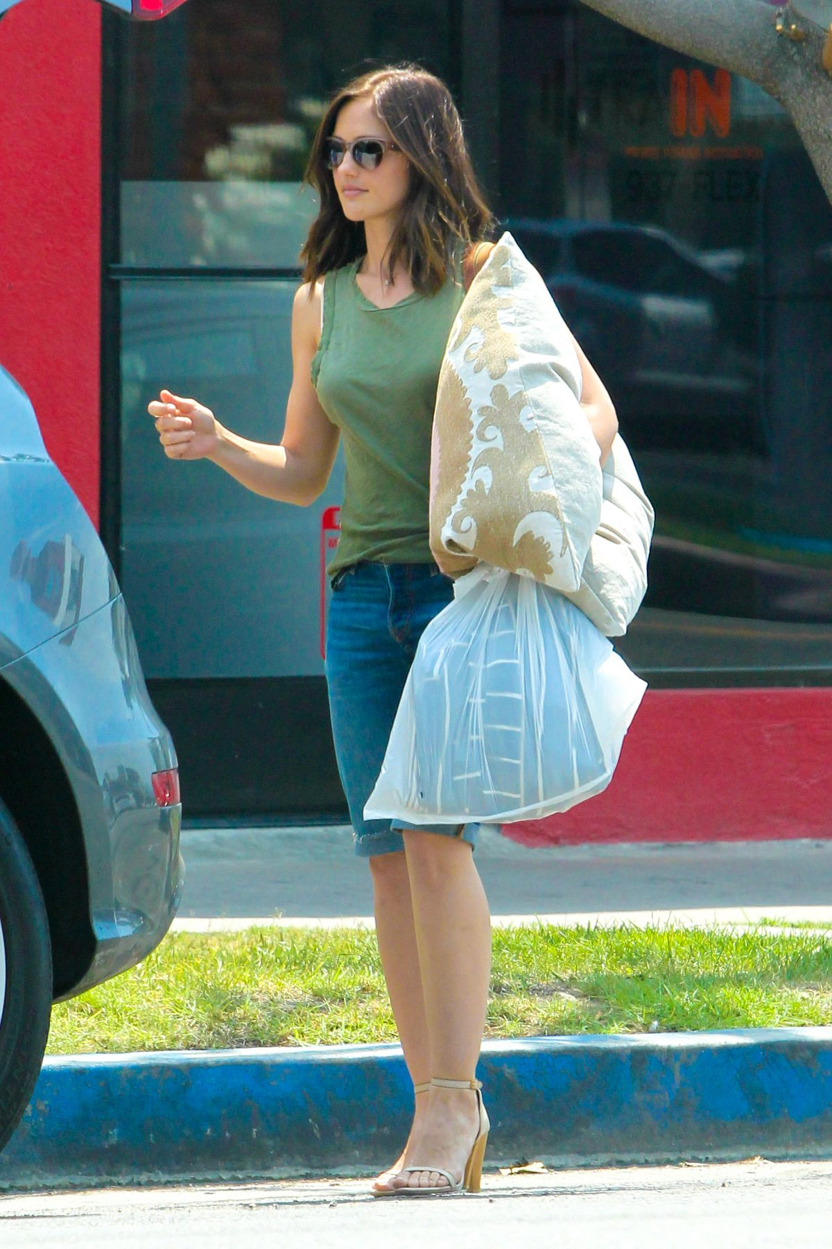 MINKA KELLY Out Shopping in West Hollywood