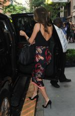 MIRANDA KERR Leaves Jimmy Fallon Show in New York