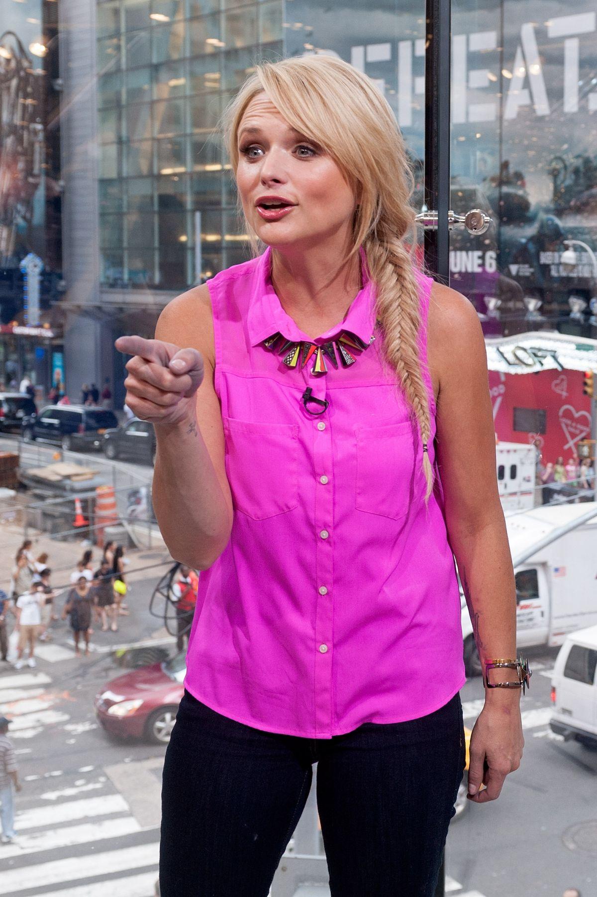 MIRANDA LAMBERT on the Set of Extra at Studio in New York