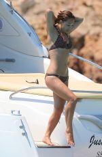 MYLEENE KLASS in Bikini at a Boat in Ibiza