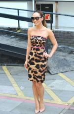 MYLEENE KLASS Leaving ITV Studios in London