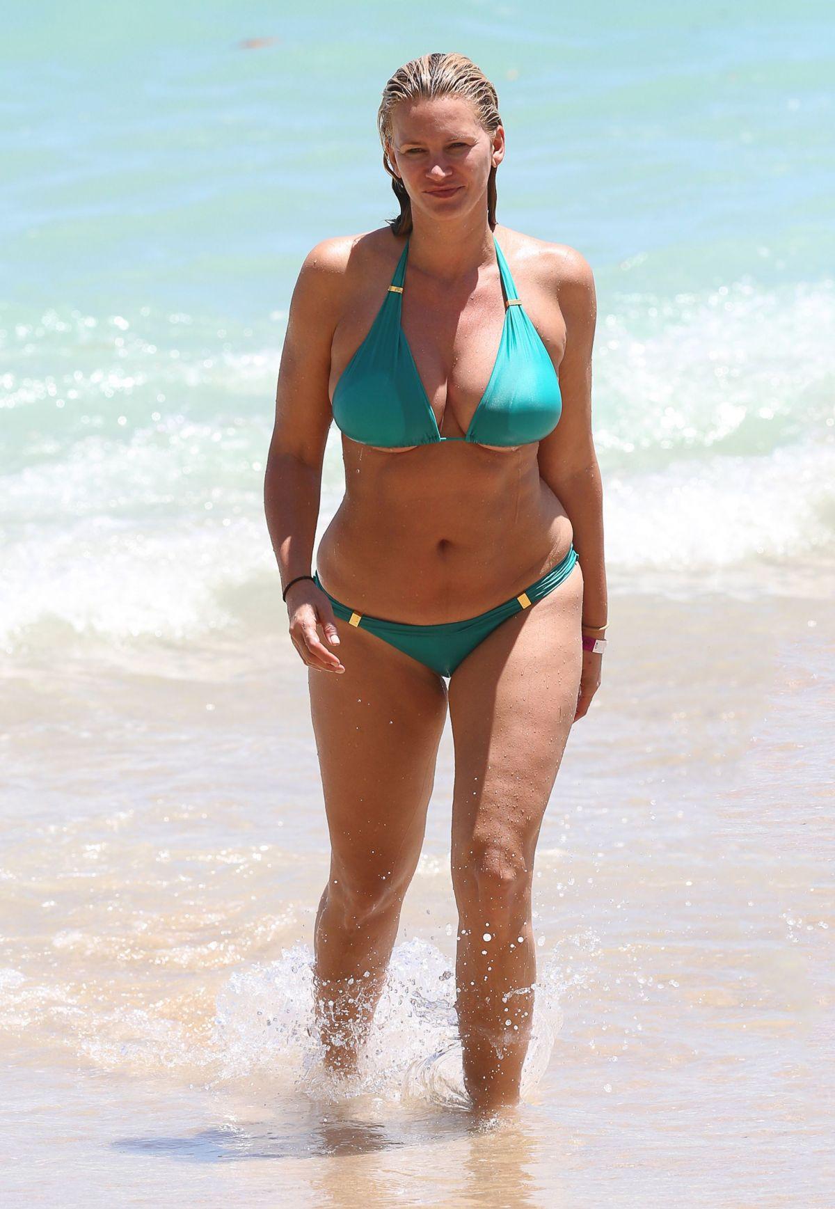 NATASHA HENSTRIDGE in Bikini on the Beach in Hawaii - HawtCelebs