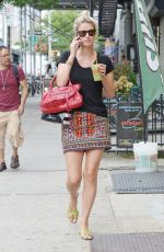 NICKY HILTON in Short Skirt Out in New York