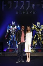 NICOLA PELTZ at Transformers: Age of Extinction Press Conference in Tokyo