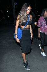 NICOLE SCHERZINGER Arrives at Lady Gaga Concert in Los Angeles