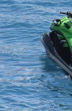 NICOLE SCHERZINGER in Bikini on a Boat in the Mediterranean