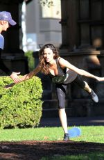 NICOLE TRUMFIO Working Out in a Park in Sydney