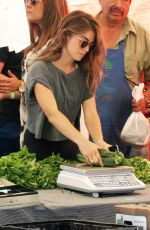 NIKKI REED at a Farmers Market in Studio City