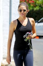 NIKKI REED in Tights Leaves a Gym in Los Angeles
