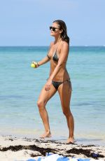 NINA AGDAL in Bikini at a Beach in Miami