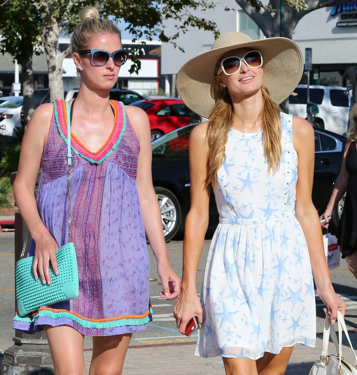 PARIS and NICKY HILTON Out Shopping in Malibu