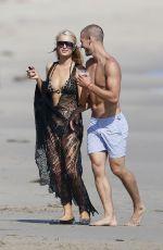 PARIS HILTON in Bikini at a Beach in Malibu