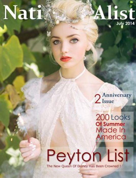 PEYTON LIST in Nationalist Magazine