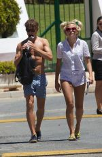 PIXIE LOTT Out and About in Marbella