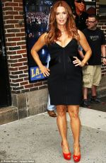 POPPY MONTGOMERY Arrives at The Late Show with David Letterman