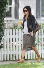 Pregnant RACHEL BILSON Out and About in West Hollywood