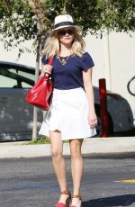 REESE WITHERSPOON Arrives at a Meeting in Santa Monica