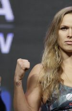 RONDA ROUSEY at UFC 175 Weigh-in