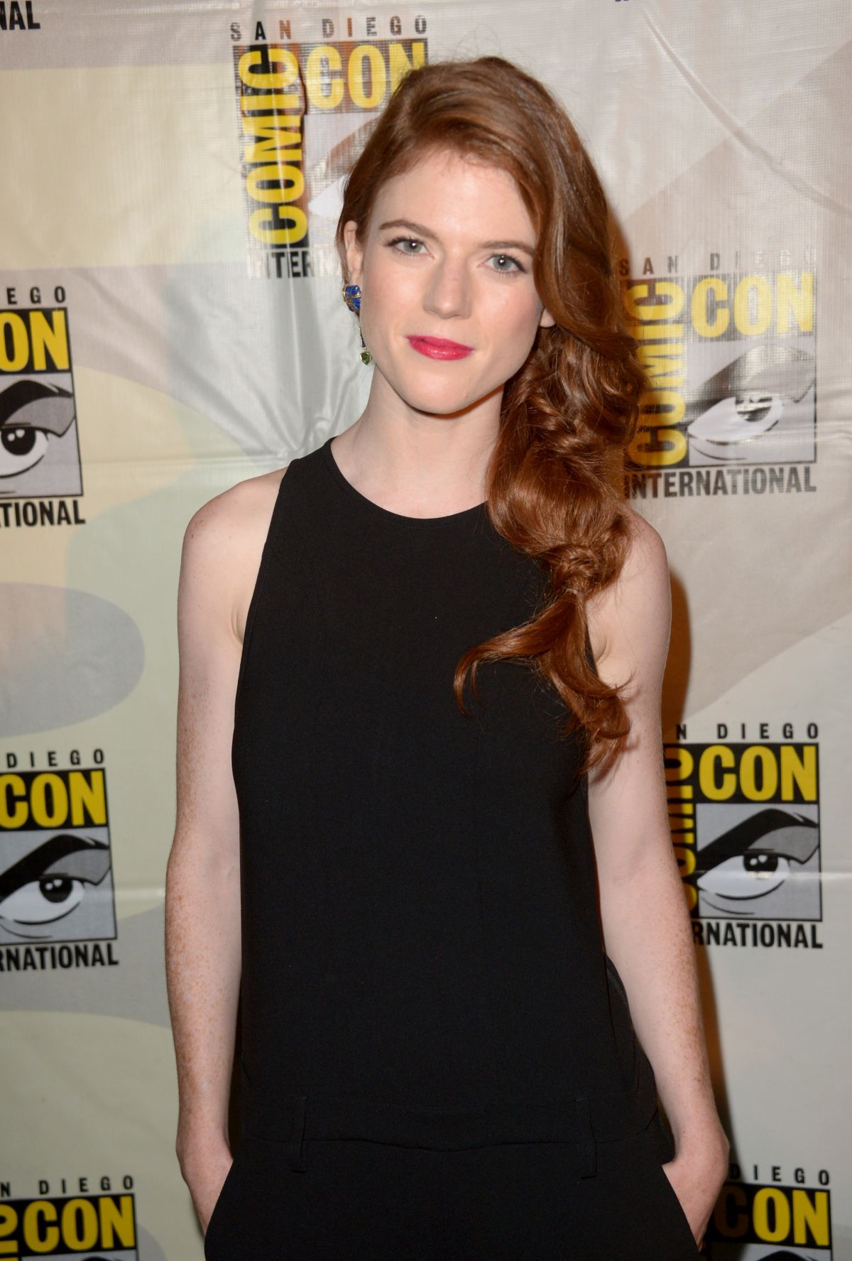 ROSE LESLIE at Game of Thrones Panel at Comic-con in San Diego
