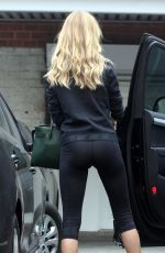 ROSIE HUNTINGTON-WHITELEY in Tights Leaves a Gym in West Hollywood