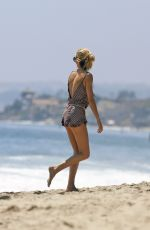ROSIE HUNTINGTON-WHITELEY on the Beach in Malibu