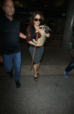 SALMA HAYEK Arrives at LAX Airport in Los Angeles