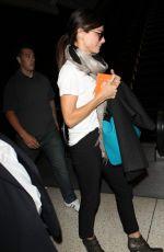 SANDRA BULLOCK Arrives ar LAX Airport in Los Angeles