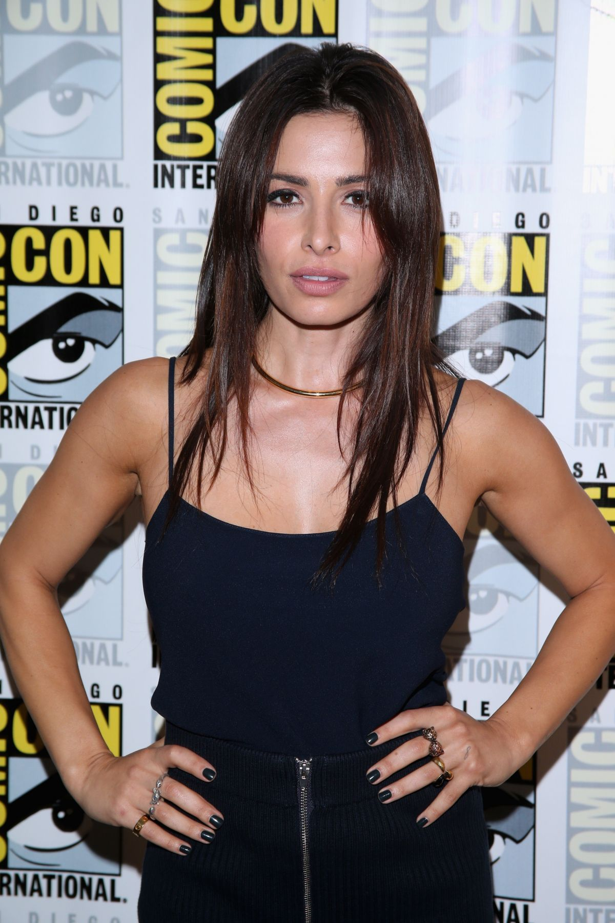 SARAH SHAHI at Person of Interest Panel at Comic-con in San Diego