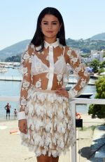 SELENA GOMEZ at a Press Conference at Ischia Global Film and Music Festival