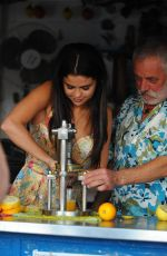SELENA GOMEZ Out in Ischia