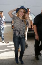 SHAKIRA at Univision's Despierta america in Miami