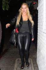 SOPHIE MONK Leaves Chateau Marmont in West Hollywood