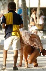 SYLVIE VAN DER VAART Out and About in Saint Tropez