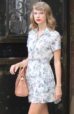 TAYLOR SWIFT in Dress Leaves a Gym in New York